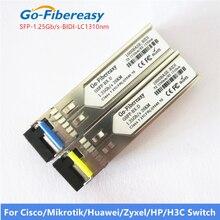 Moduł SFP BiDi 1.25G jednomodowy Simplex TX1310nm/RX1550nm WDM SFP moduł nadawczo odbiorczy funkcja DDM z SFP moduł przełączający