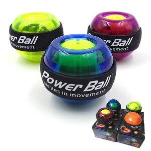 LED Wrist Ball Trainer Gyroscope Strengthener Gyro Power Ball Arm Exerciser Exercise Machine Gym powerball Fitness Equipment