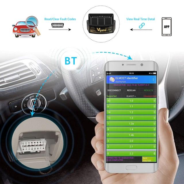 Vgate iCar Pro Bluetooth 4.0 ELM327 WIFI OBD2 Scanner Scan For Android/IOS OBD 2 OBD2 Car Diagnostic Auto Tools PK ELM 327 V 1 5 4
