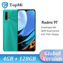 Versão global xiaomi redmi 9 t 4gb ram 64gb/128gb rom 9 t telefone móvel snapdragon 662 octa núcleo 48mp quad câmera 6.53