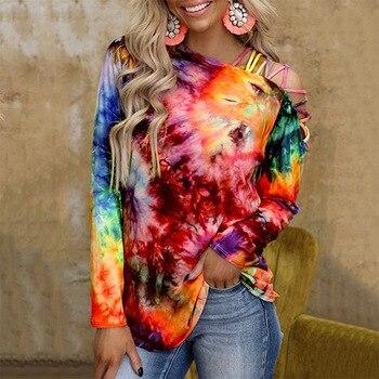 Womens Tie-Dye Fashion Tops