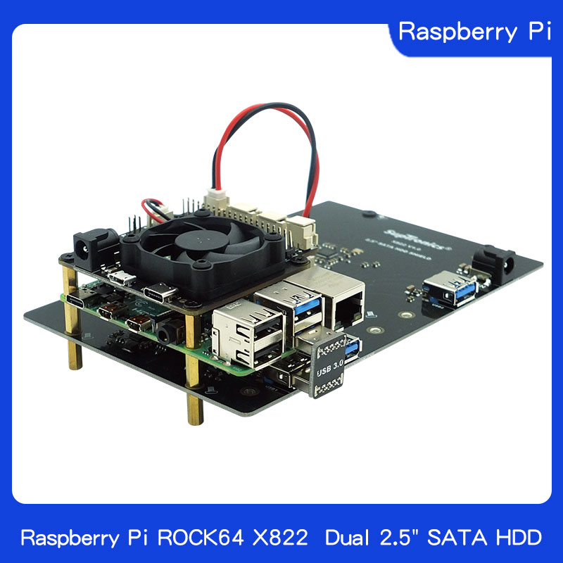 Raspberry Pi ROCK64 X822 Dual 2.5