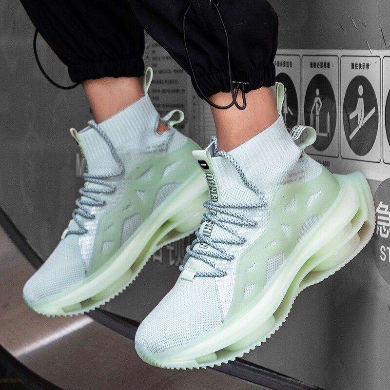 Nouveau coussin d'air en plein air chaussettes chaussures hommes chaussures décontractées à lacets chaussures lumineuses confortable respirant chaussures de randonnée Zapatillas Hombre