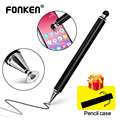 Стилус FONKEN для смартфонов 2 в 1, стилус для планшета Samsung Xiaomi, тонкий карандаш для рисования, ручка с толстой емкостью