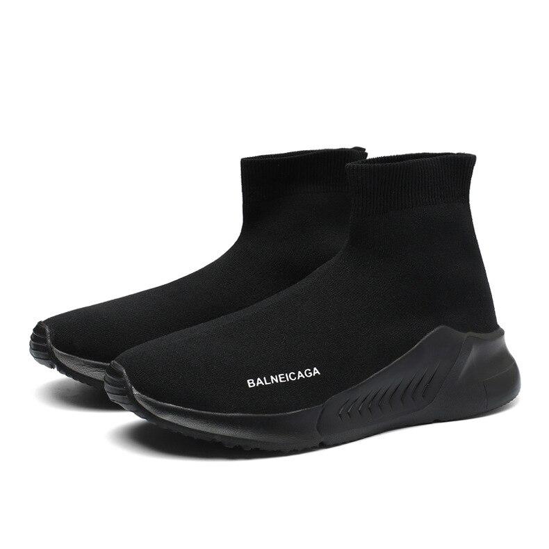 Large Size Athletic Shoes MEN'S SHOES Hight-top Socks Shoes Men's Anti-slip Wear-Resistant Jiao Di Wa Shoes 2018