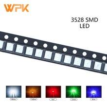 100pcs 3528 SMD LED Red Yellow Green White Blue Orange UV Light Emitting Diode PCB DIY Assorted Kit