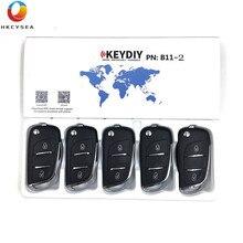 HKCYSEA mando a distancia KD B11, 5/10/15 Uds., llave remota de 2 botones, KEYDIY serie B para URG200, KD X2, KD900, MINI tecla KD programador