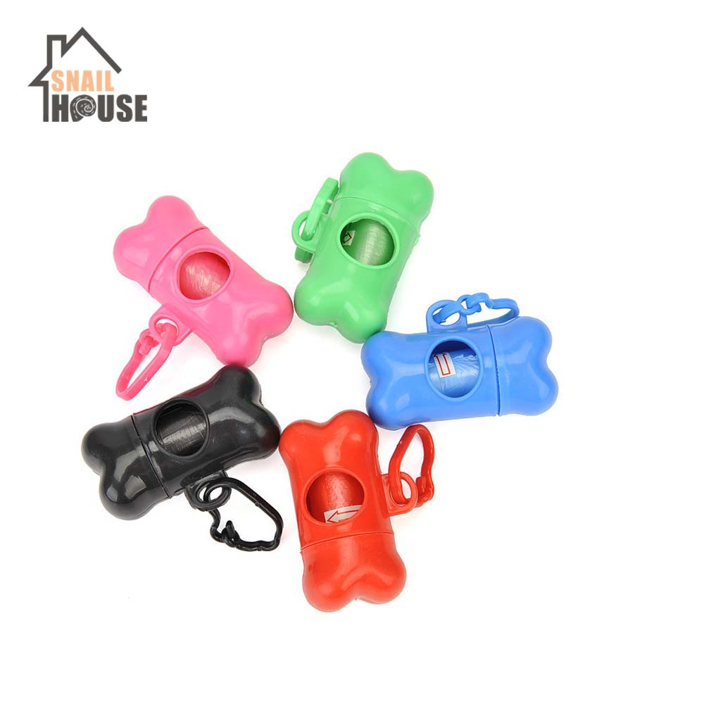 Snailhouse Pet Waste Bag Dispenser For Dog Poop Bags Bone Shape Plastic Pet Small Dog Outdoor Environmental Safety Waste Holder
