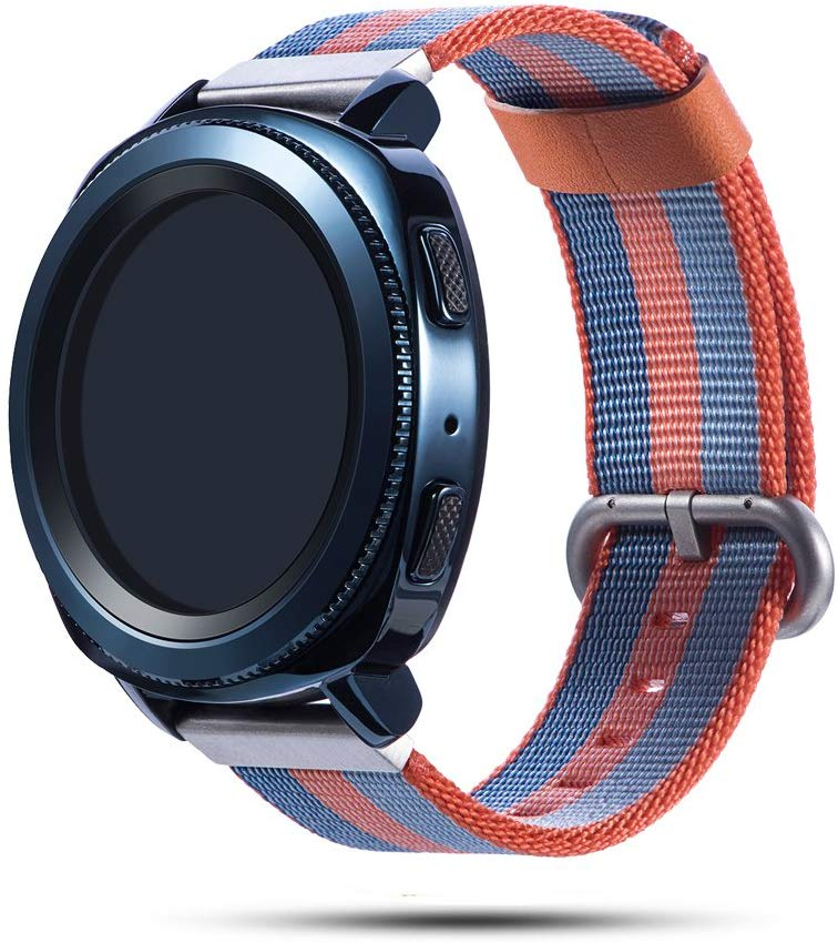 Woven nylon band for <font><b>Samsung</b></font> Galaxy <font><b>Watch</b></font> <font><b>46mm</b></font> 42mm Active 2 Huawei GT 2 strap Magic Huami Amazfit <font><b>Bracelet</b></font> <font><b>watch</b></font> Band 22mm 20mm image