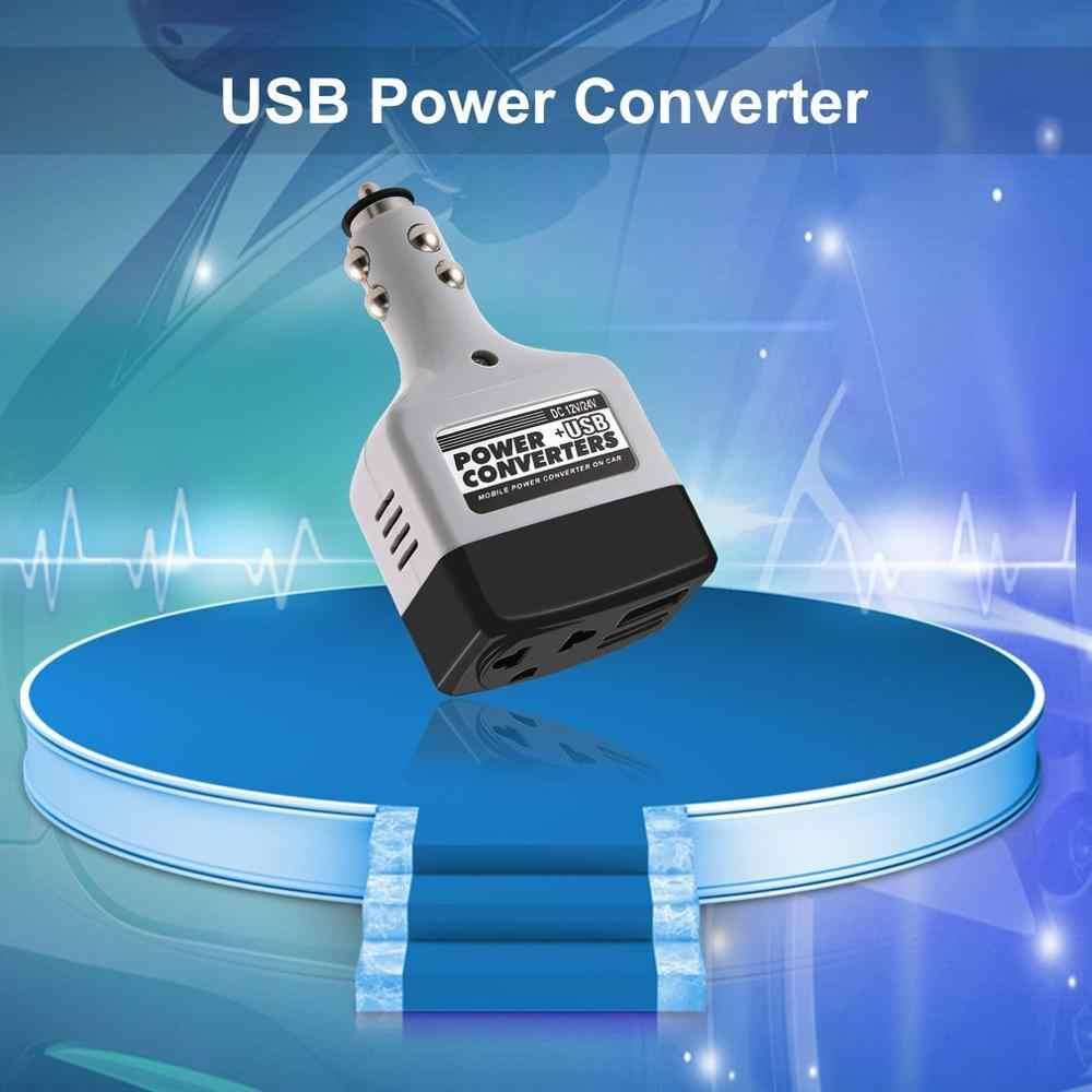 New arrival DC 12/24 V do AC 220 V/USB 6 V samochodowa przetwornica napięcia Adapter mobilna automatyczna przetwornica do ładowarki samochodowej z interfejsem USB