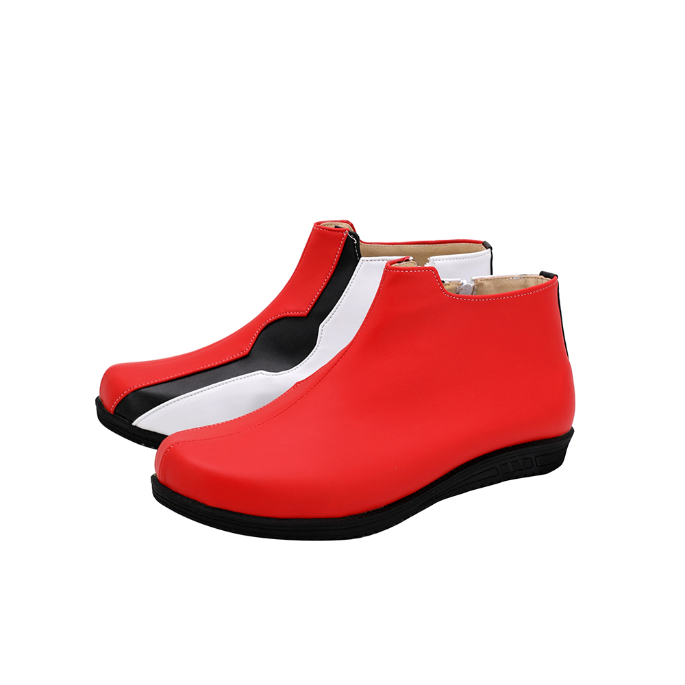 Pokemon SwordShield Kabu Cosplay Boots Red Leather Shoes Custom Made Any Size (5)