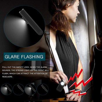 The Original Safety Alarm Self Defense Siren-Portable  for Women w/SOS LED Light & Carabiner Helps Elders & Kids Emergency Call 5