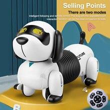 LE NENG-Robot electrónico programable con sonido para niños, juguete de Perro Robot RC, Robot robótico para acrobacias, regalo de cumpleaños