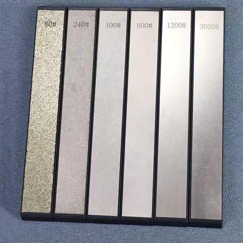 6 stücke set Grit Diamant Messer Spitzer Haushalt Küche diamant schärfen stein Messer Schärfen System küche