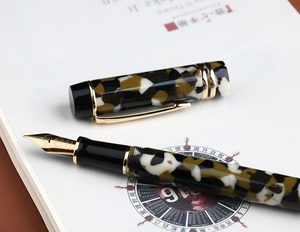 Image 3 - Moonman M600S Celluloid Brown Fountain Pen MOONMAN Iridium Fine Nib 0.5mm Excellent Fashion Office Writing Gift Pen for Business