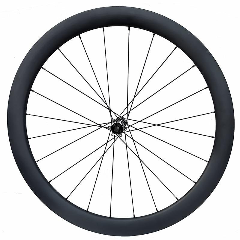 Largeur 25mm carbone vélo disque roue 50mm tubeless personnalisé acheteur propre autocollant avec DT 180s serrure centrale ou 6 boulon 12*100 12*142