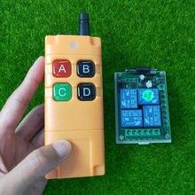Sistema sem fio do interruptor de controle remoto do rf da c.c. 12v 24v 4ch 10a do setor de ndustrial com 30m-transmissor de longa distância de 1000m