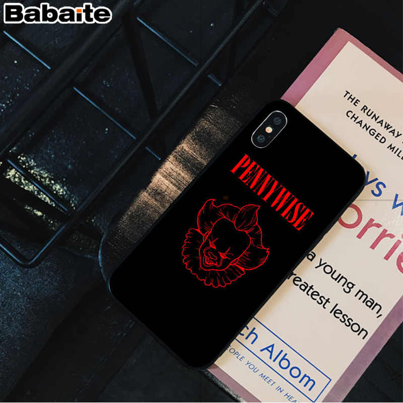 Babaite Stephen King S It pennywise ยางนุ่มสีดำโทรศัพท์กรณีสำหรับ iPhone 5 5Sx 6 7 7plus 8 8 PLUS X XS MAX XR