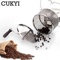 CUKYI Edelstahl Handuse Kaffee bean roaster Espresso kaffeebohne Röster mit einem brenner maschine Einfache bedienung-in Kaffeeröster aus Haushaltsgeräte bei