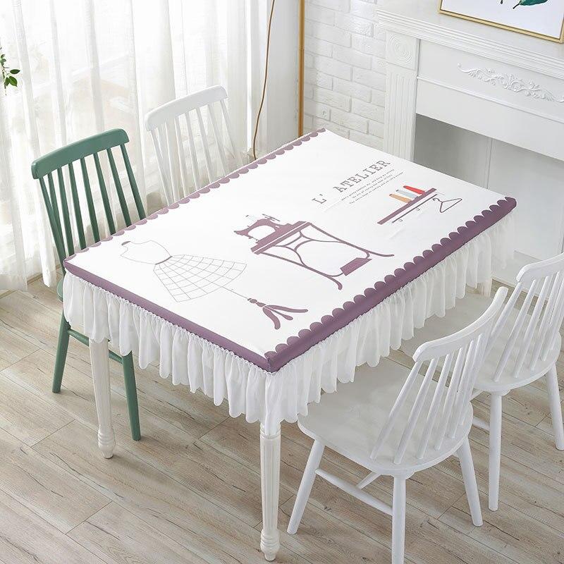 5 Размеры Водонепроницаемый скатерть Кухня декоративный обеденный