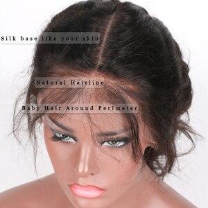 Image 5 - EAYON אור איטלקי יקי משי למעלה Glueless מלא תחרת פאות 5x4.5 יקי ישר פאות ברזילאי רמי שיער טבעי עם תינוק שיער