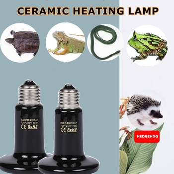 Pet Reptile Far Infrared Ceramic Heating Lamp 110V 220V Heat Emitter Light Bulb 50W 75W 100W 150W 200W image