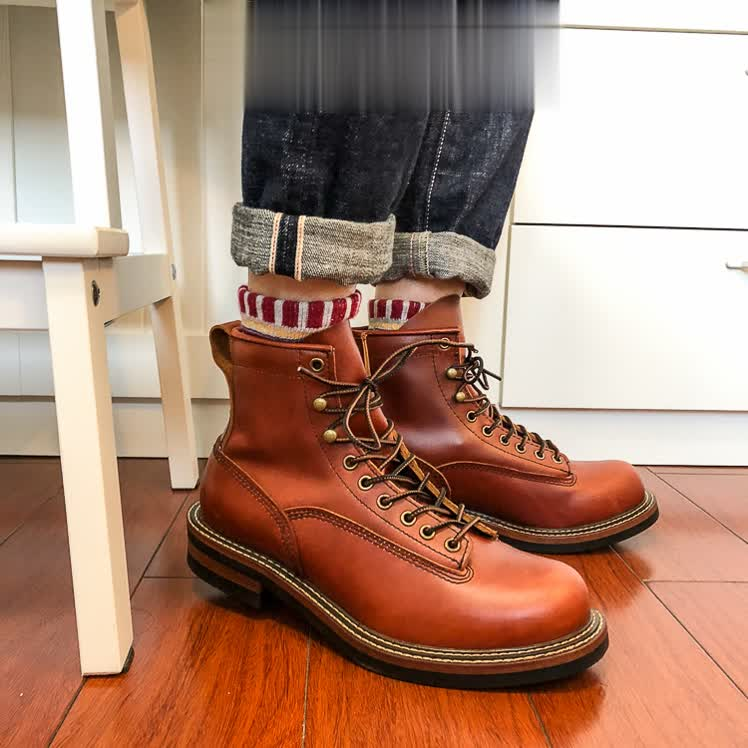 U1 Super quality Handmade Cowhide genuine leather American style Work Boots Desert Boots