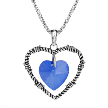 Hot Fashion Necklaces Crystals Heart Pendant Necklace For Women Girls Gift Silver Color Chain Women Men Jewelry Christmas Gift image