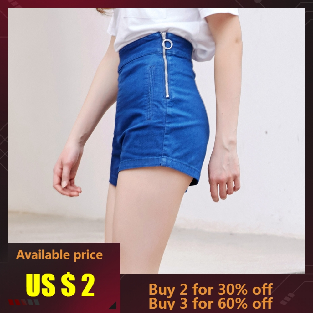 Metersbonwe Denim   Shorts   Women Zipper Fly Side jeans Summer Female Trendy Casual High Waist   Shorts   Fashion Brand   Short   Jeans