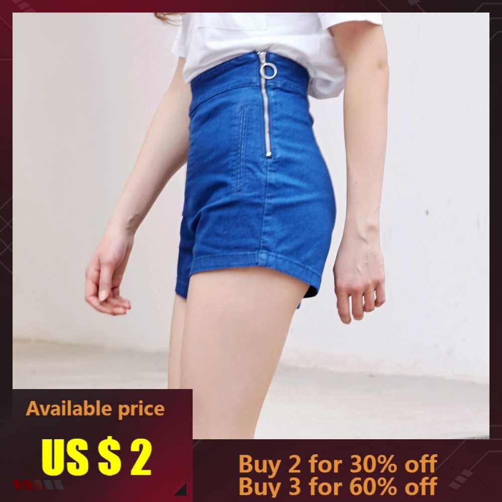 Metersbonwe spodenki jeansowe kobiety Zipper Fly boczne dżinsy lato kobiet modne na co dzień wysokiej talii szorty moda marka krótkie dżinsy