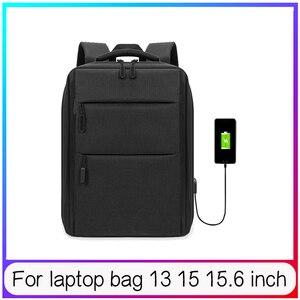 Рюкзак для ноутбука, сумка для Macbook Air Pro 13, 15,6 дюймов, USB зарядный чехол, деловой Противоугонный рюкзак, мужская дорожная сумка, одноцветная Пр...