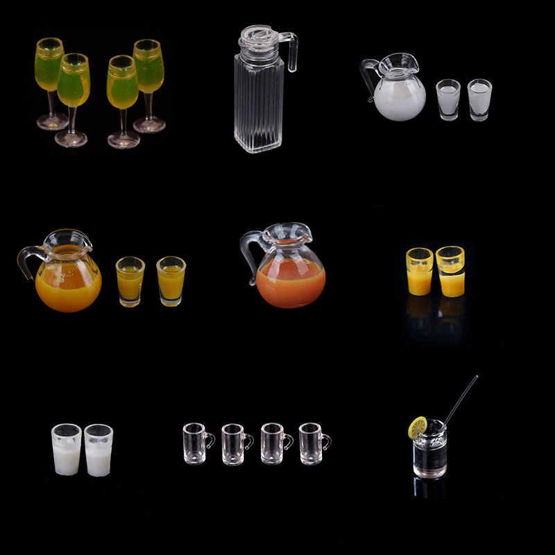 1/12 ドールハウスミニチュアゴブレットガラスカップミニかわいいビールジョッキ人形ハウスドールハウスキッチンアクセサリーワイングラスコップジュースジャグ茶ポット