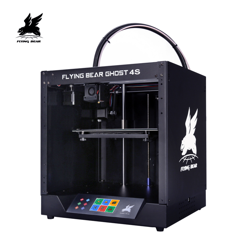 Free shipping Flyingbear-Ghost4S 3d Printer full metal frame High Precision 3d printer kit imprimante impresora glass platform