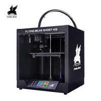 Trasporto libero Flyingbear-Ghost4S 3d Stampante full frame in metallo di Alta Precisione 3d kit stampante imprimante impresora piattaforma di vetro