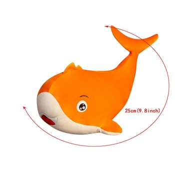 1PC Various Colors Orange Blue Red 25CM Novel Cute Simulation Marine Animal Shape Soft Plush Toy Pillow Back Child Adulttoy Gift image
