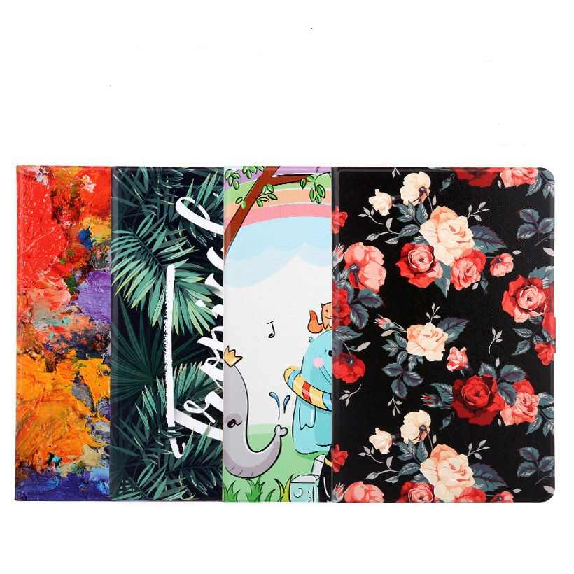 "Fashion Colorful Printed Tablet Funda untuk Huawei MediaPad M3 Lite 10 Kasus BAH-L09 BAH-W09 BAH-AL00 10.1 ""Cover Smart Stand funda"