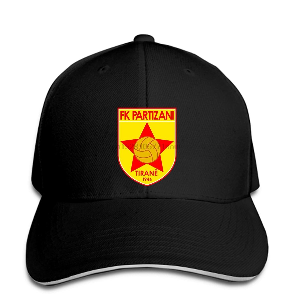 Baseball cap Fk Partizani Tirana Football Club Soccer Team Albanian Superliga Albania Print hat