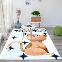 Bedroom Parlor Hallway kitchen Door Floor Bath Mats Cartoon Rugs And Carpets For Kids Baby Home Living Room