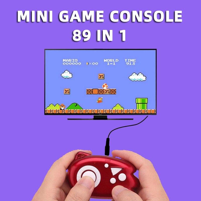 Супер ретро мини 8 бит видео игровая консоль мальчик Портативный Plug Play Tv 89 в 1 плеер Классическая карманная портативная игровая консоль малы...