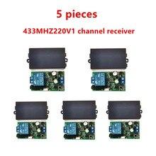 433 MHz العالمي لاسلكي للتحكم عن بعد التبديل ، AC.85 V ، 110 V ، 220 V ، 1CH التتابع المتلقي ، وحدة و 433 MHz.EV1527 RF عن بعد