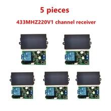 433 MHz evrensel kablosuz uzaktan kumanda anahtarı, AC.85 V, 110 V, 220 V, 1CH röle alıcı, modül ve 433 MHz.EV1527 RF uzaktan