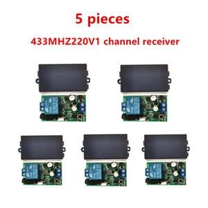 Image 1 - 433MHz universal wireless remote control switch, AC.85 V, 110 V, 220 V, 1CH relay receiver, module and 433 MHz.EV1527 RF remote