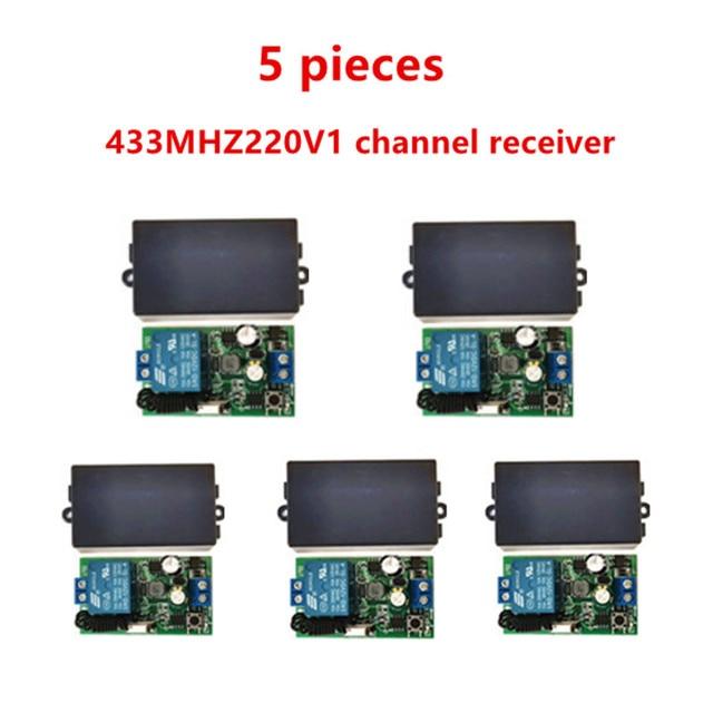 433MHz universal wireless remote control switch, AC.85 V, 110 V, 220 V, 1CH relay receiver, module and 433 MHz.EV1527 RF remote