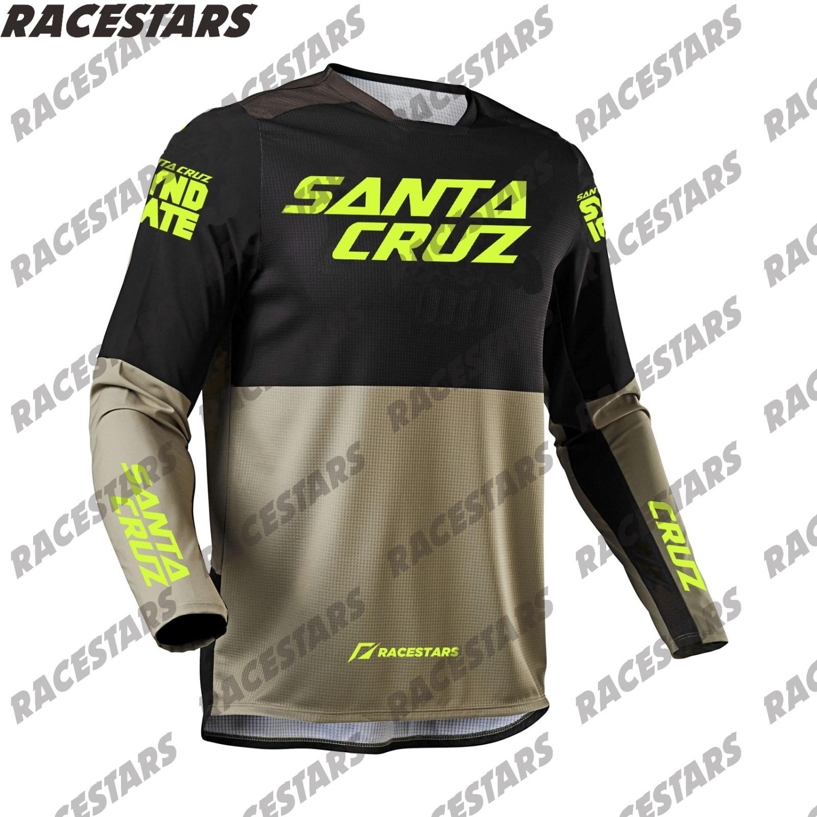 SANTA CRUZ горные Enduro Jeresy мотоцикл мотокроссе MTB MX внедорожный с длинным рукавом Велоспорт Джерси велосипедная футболка BMX ATV