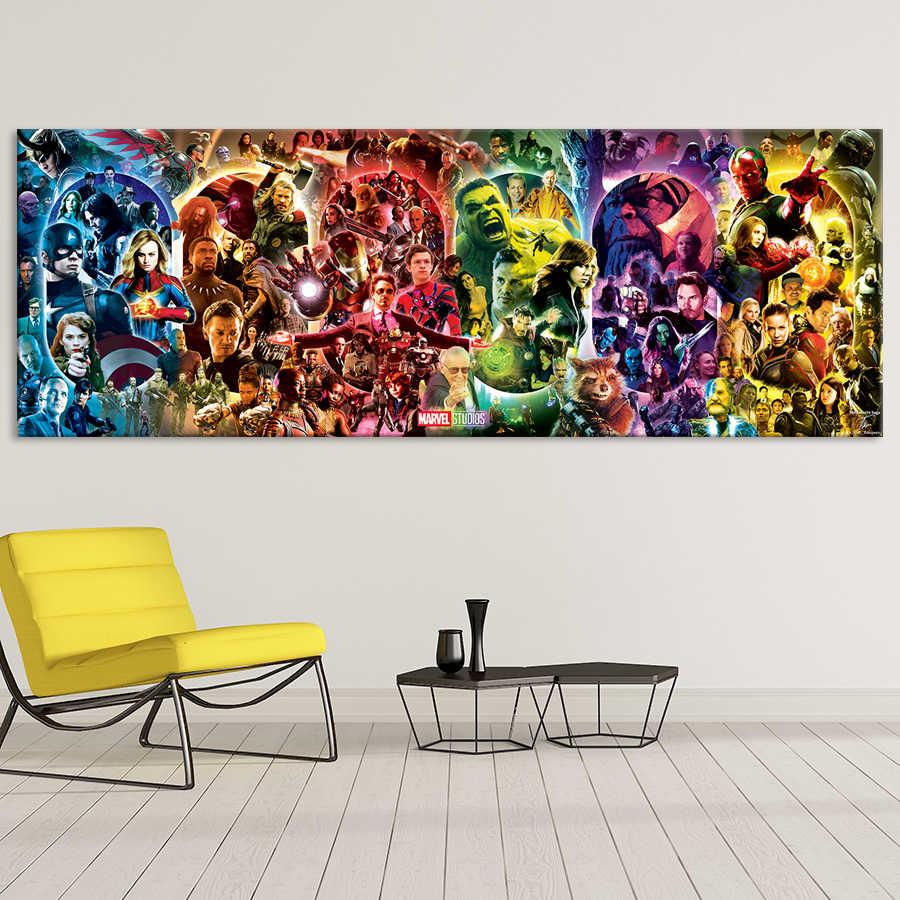 The infinity saga-marvel cinematic universo arte da parede cartaz vingadores endgame pintura em tela hd sala de impressão decoração para casa imagens