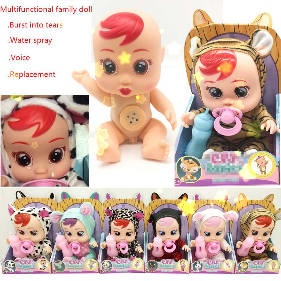 3D Silicone Inteiro Realista Doll Reborn Cry A Baby High Quality Magic Tears Dolls Toys For Children Surprise Gift T15