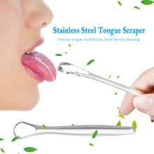 Oral Tongue Cleaner Brush Fresher Sweepers for Adults Kids Tongue Scraper Reusable Portable Stainless Steel