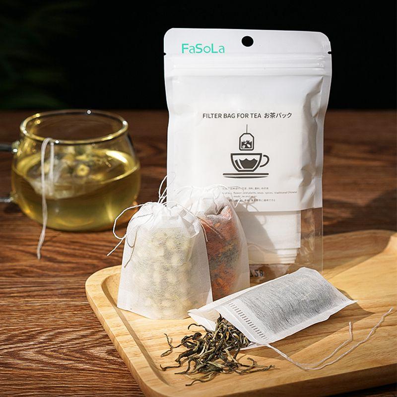 100Pcs/Lot Teabags 5.5 X 7CM Empty Scented Tea Bag Disposable With String Heal Seal Filter Paper For Herb Loose Tea Bolsas De Te