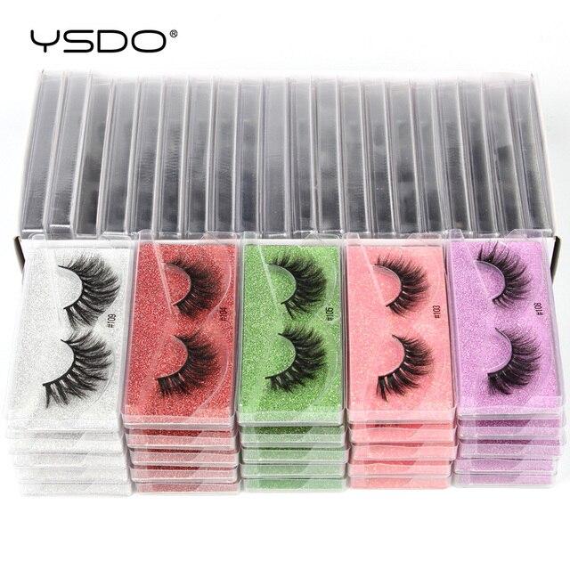 YSDO Eyelashes Wholesale 10/20/50/100 PCS 3d Mink Eyelashes Natural Mink Lashes Wholesale False Eyelashes Makeup Lashes In Bulk 6