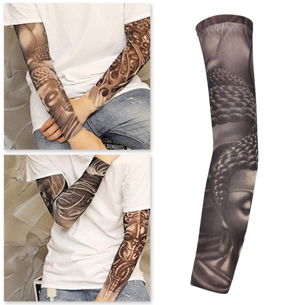 1pc Tattoo Sleeve Arm Cover 3D Printing Cycling Sleeves UV Cover Protection Women Arm Seamless Men Tattoo W3S0